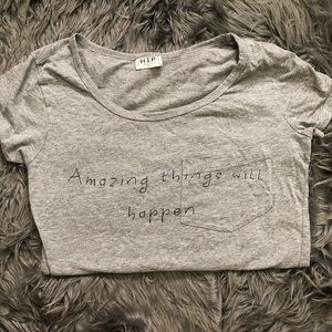 Amazing things will happen pocket tee
